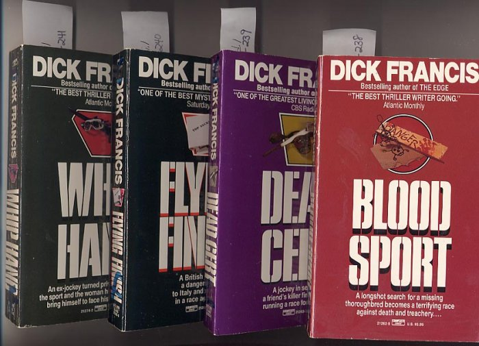 Lot of 4 Dick Francis Blood Sport, Cert, Finish, Hand PB