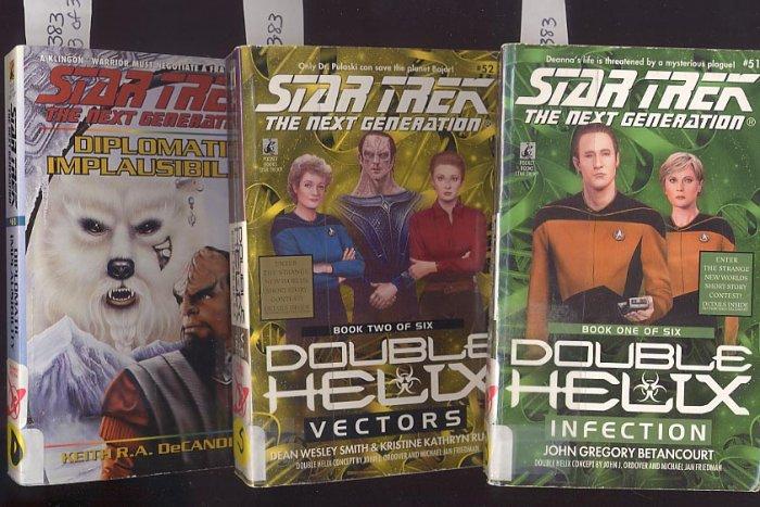 Lot of 3 Star Trek Infection, Vectors, Diplomatic #51, 52, 61 PB