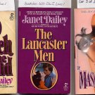 Lot of 3 Janet Dailey Masquerade, Lancaster Men, Touch the Wind PB