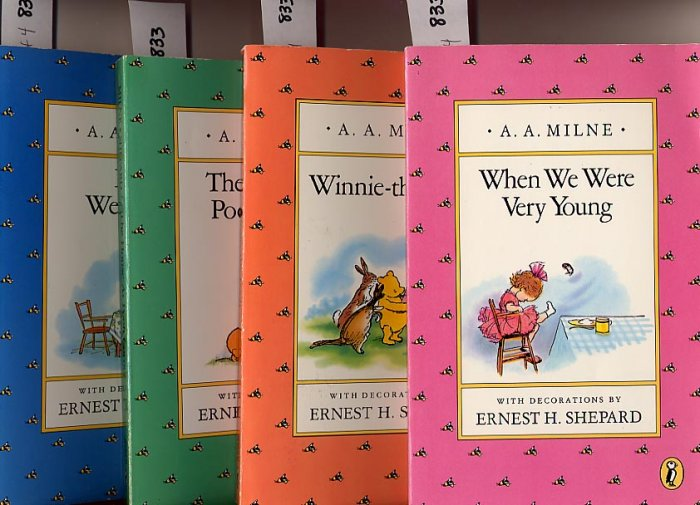 Lot of 4 A.A. Milne When We Were Very Young, Winnie the Pooh, House, Now We Are SC