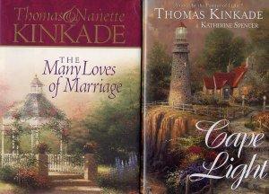 Lot of 2 Thomas Kinkade - Cape Light, Many Loves of Marriage HC