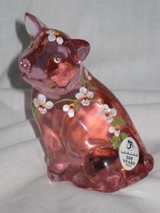 Posy the Little Pink Pig Fenton Art Glass