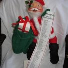 Annalee Santa with List and Bag 1989 20 inches