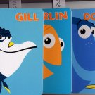 Lot of 3 Disney Pixar Gill, Marlon, Dory Hardcover Board Books