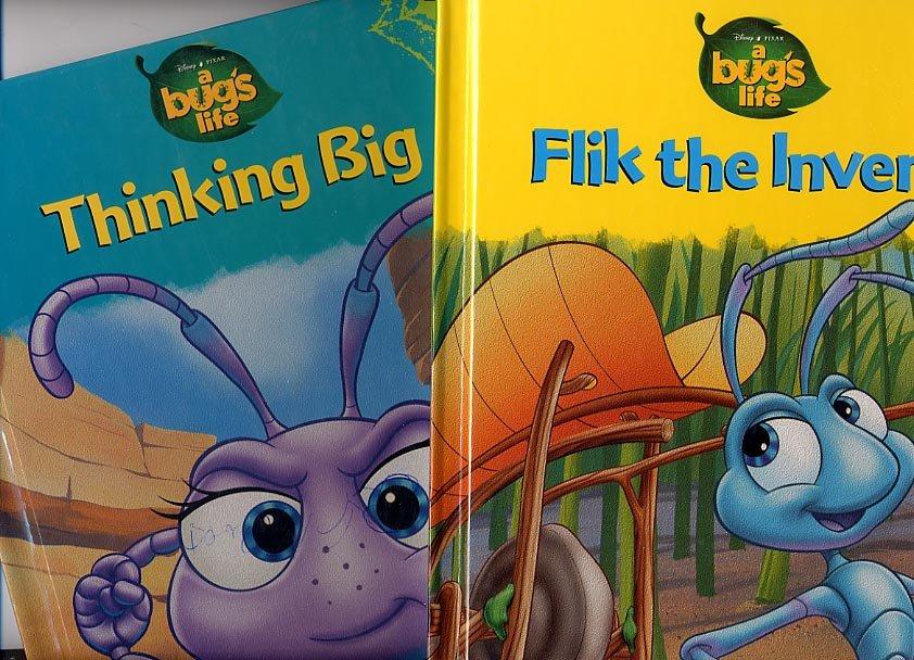 Lot of 2 Bug's Life Flik the Inventor, Thinking Big HC