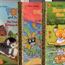 Golden Books Lot of 3 Leopard, School Play, Poky and Friends HC