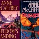 Lot of 2 Anne McCaffrey Freedom's Landing, Dragonseye HC
