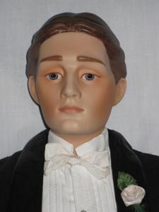 Gibson Groom Heirloom Porcelain Doll Franklin Mint
