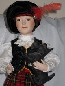 Heather the Little Highlander Porcelain Doll by Lenox