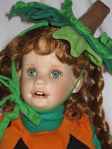 Lil' Punkin Porcelain Pumpkin Doll by Hamilton Collection