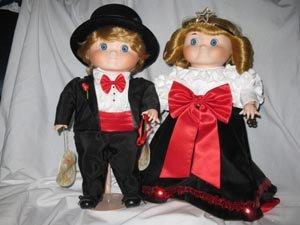 Set of Bette Ball Dolly Dandy Dingle Porcelain Dolls by Goebel