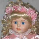 Flower Girl Porcelain Doll by Dynasty
