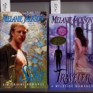 Lot of 2 Traveler autographed and The Saint by Melanie Jackson PB