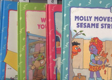 Lot of 4 Sesame Street Book Club Hardcover