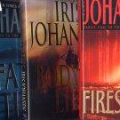 Lot of 3 Iris Johansen Firestorm, Lies, Fatal Tide HC