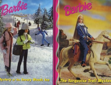 Lot of 2 Barbie Snowy Woods Inn and Turquoise Trail Mystery
