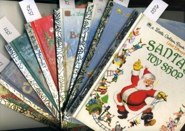 Lot of 8 Christmas Little Golden Books