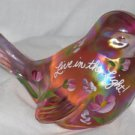 Live in the Light Bird Fenton Art Glass