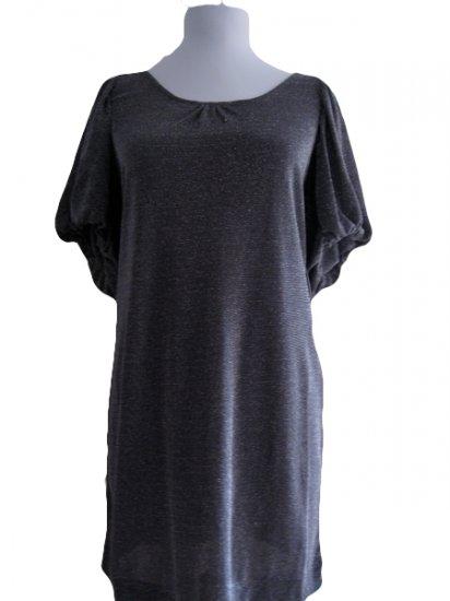 BCBGMaxazria Charcoal Sparkle Dress