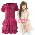 XXL*PINK*Dress ((VOTE Collection)) 3step drain+neck knot Cotton Com 1F 42 inch chest*FREE SHIP!!