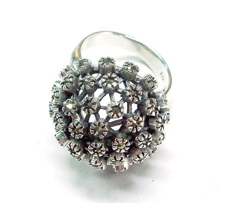 Mountain Flower Marcasite Ring