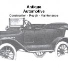 Antique Automobile construction repair and operation