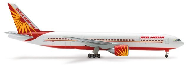 Herpa 1:500 Air India Boeing 777-200LR New Colors AI00001