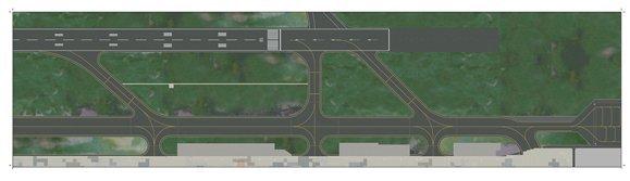 Herpa 1:500 Airport Foil 3 - Runway APM00001
