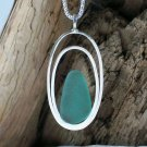 SSP107 Sterling Silver & Sea Glass Pendant