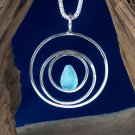SSP114   Sterling Silver Pendant w/ Sea Glass Accent