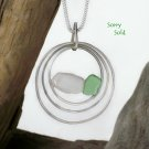 SSP106   Sterling Silver Pendant w/ Sea Glass accent
