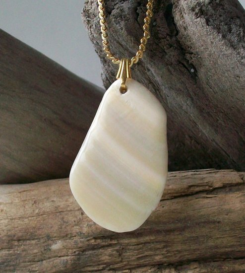 OBX119   Sea Shell Pendant from the Outer Banks