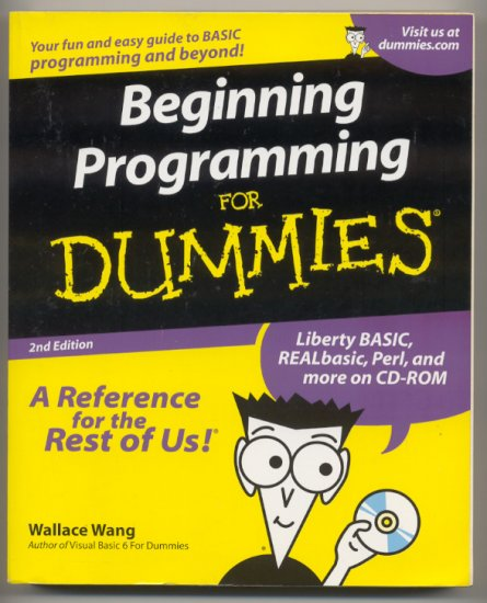 Beginning Programming for Dummies book and CD