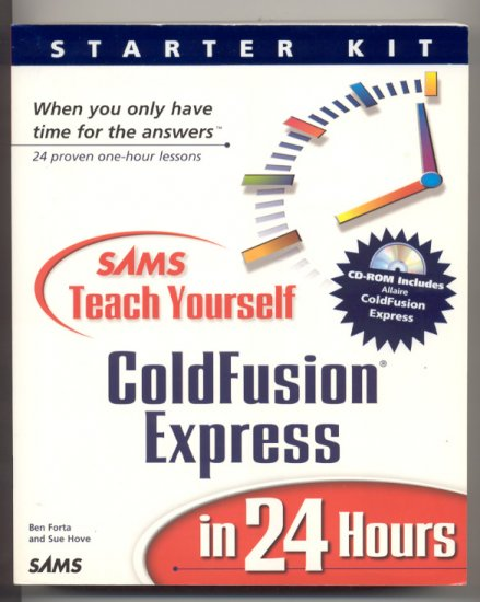 Sams Teach Yourself Coldfusion Express in 24 Hours book and CD