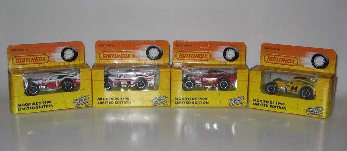 NASCAR Modifieds 1990 Nutmeg Matchbox Diecast - Set of Four
