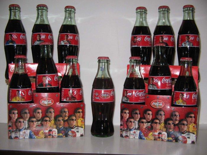 2002 NASCAR Family Coke Coca Cola 13  Bottle Set