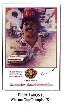 Terry Labonte Winston Cup Commemorative Champion Poster