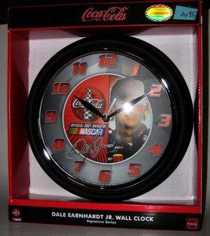 Dale Earnhardt Jr. NASCAR Coca-Cola Wall Clock