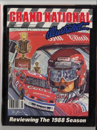 Grand National Illustrated Magazine 1989 Bill Elliott NASCAR