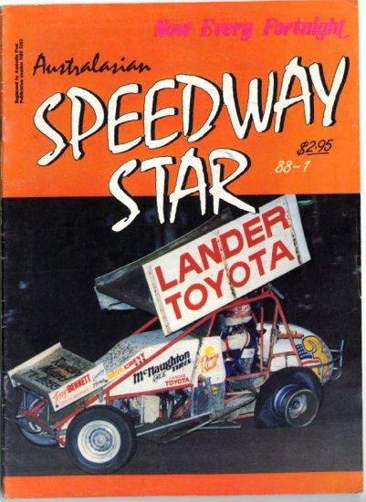Australasian Speedway Star Magazine 1988 Steve Kinser