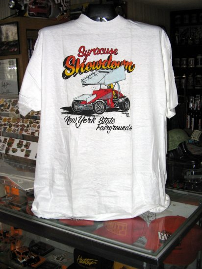 SOLD Syracuse Showdown NY State Fairgrounds Outlaws XL Tshirt WoO SH1447