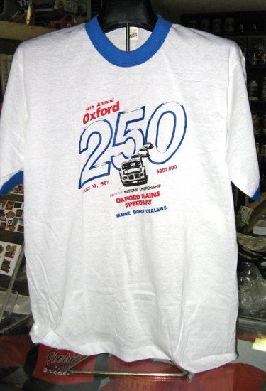 14th Annual Oxford 250 1987 Oxford Speedway Tshirt XL