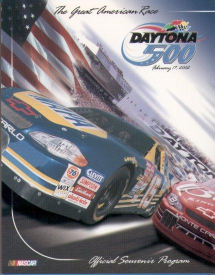 2002 Daytona 500 The Great American Race Official Program NASCAR Winston Cup