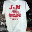 J & M Speed Large Tshirt Auto Racing
