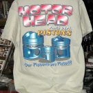 Motor Head Parts Dept. Pistons Tan XL Tshirt