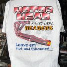 Motor Head Parts Dept.: Headers XLarge T-Shirt