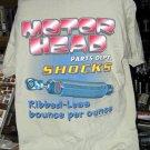 Motor Heads Parts Dept. SHOCKS Tan Large T-shirt