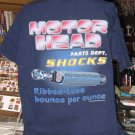 Motor Head Parts Dept SHOCKS Blue Large Tshirt