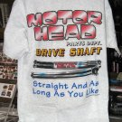 Motor Heads Parts Dept DRIVE SHAFT Large Gray Tshirt