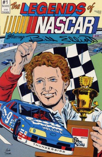 The Legends of NASCAR #1 Starring Bill Elliott Vortex Comix